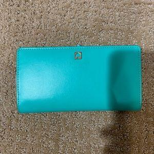 Kate Spade Wallet green long wallet purse